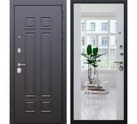 Входная дверь АСД Виват с зеркалом сосна белая