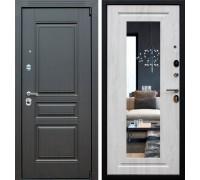 Входная дверь АСД Гермес NEW с зеркалом ELIT cосна белая