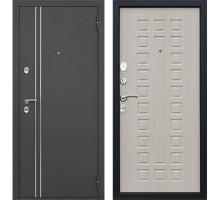 Входная дверь АСД  с терморазрывом беленый дуб