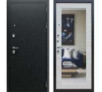 Входная дверь АСД NEXT 1 с зеркалом  Акация светлая