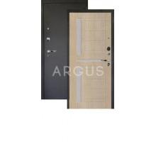Дверь Аргус Люкс Про 3К Альфред капучино/черный шелк
