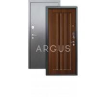 Дверь Аргус Люкс 3К Багратион дуб рустик./серебро антик