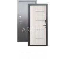 Дверь Аргус Люкс 3К Фриза капучино/серебро антик
