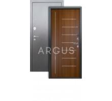 Дверь Аргус Люкс 3К Фриза дуб золотой/серебро антик