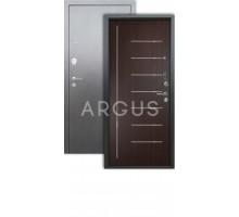 Дверь Аргус Люкс 3К Фриза венге/серебро антик
