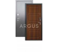 Дверь Аргус Люкс 3К Геометрия дуб рустик./серебро антик