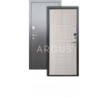 Дверь Аргус Люкс 3К Геометрия ларче св./серебро антик
