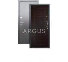 Дверь Аргус Люкс 3К геометрия венге/серебро антик