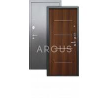 Дверь Аргус Люкс 3К Руст дуб рустик/серебро антик