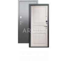 Дверь Аргус Люкс 3К Сабина капучино/серебро антик