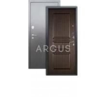 Дверь Аргус Люкс 3К Сабина венге/серебро антик