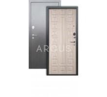 Дверь Аргус Люкс 3К Сенатор капучино/серебро антик