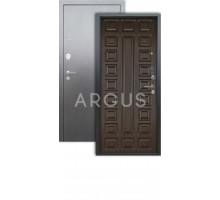Дверь Аргус Люкс 3К Сенатор венге/серебро антик