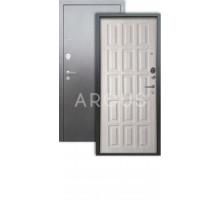 Дверь Аргус Люкс 3К Шоколад капучино/серебро антик