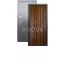 Дверь Аргус Люкс 3К Шоколад дуб золотой/серебро антик