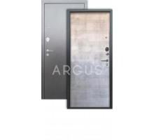 Дверь Аргус Люкс 3К Техно светлый бетон/серебро антик