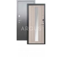 Дверь Аргус Люкс 3К Владимир капучино/серебро антик
