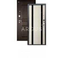 Дверь Аргус Люкс АС Дуэт белое дерево/2п сабина венге