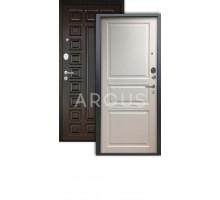 Дверь Аргус Люкс АС Джулия белый жемчуг /2п сенатор венге