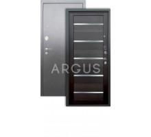 Дверь Аргус Люкс 3К Александра вельвет/серебро антик