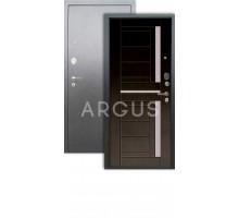 Дверь Аргус Люкс АС Альфред венге/серебро антик