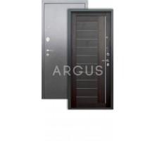 Дверь Аргус Люкс 3К Диана вельвет/серебро антик