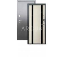Дверь Аргус Люкс АС Дуэт белое дерево/серебро антик