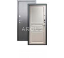 Дверь Аргус Люкс АС Джулия белый жемчуг/серебро антик