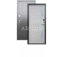 Дверь Аргус Люкс АС Мирра буксус/серебро антик