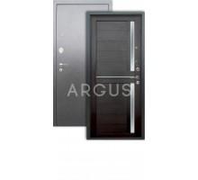 Дверь Аргус Люкс 3К Мирра вельвет/серебро антик