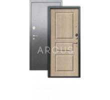 Дверь Аргус Люкс АС Сабина капучино/серебро антик