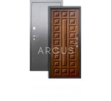 Дверь Аргус Люкс АС Сенатор дуб золотой/серебро антик