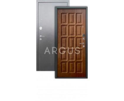 Дверь Аргус Люкс АС Шоколад дуб золотой/серебро антик