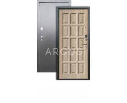 Дверь Аргус Люкс АС Шоколад капучино/серебро антик