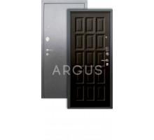 Дверь Аргус Люкс АС Шоколад венге/серебро антик