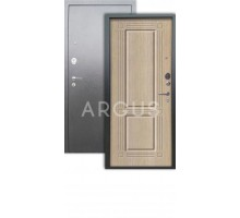 Дверь Аргус Люкс АС Триумф капучино/серебро антик