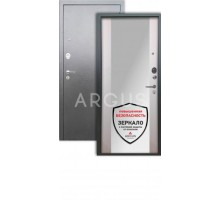 Дверь Аргус Люкс 3К Вояж белое дерево/серебро антик