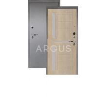 Дверь Аргус Люкс Про 3К Альфред капучино/серебро антик