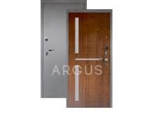 Дверь Аргус Люкс Про 3К Альфред дуб золотой/серебро антик