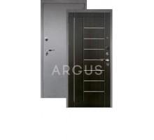 Дверь Аргус Люкс Про 3К Фриза венге тисненый/серебро антик