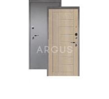 Дверь Аргус Люкс Про 3К Фриза капучино/серебро антик
