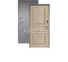 Дверь Аргус Люкс Про 3К Сабина капучино/серебро антик