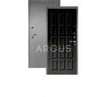 Дверь Аргус Люкс Про 3К Шоколад венге тисненый/серебро антик