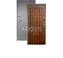 Дверь Аргус Люкс Про 3К Шоколад дуб золотой/серебро антик