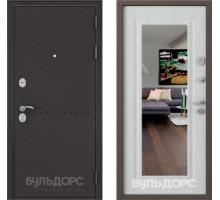 Входная дверь Бульдорс MASS 90 ларче бьянко зеркало