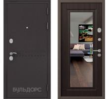 Входная дверь Бульдорс MASS 90 ларче шоколад с зеркалом