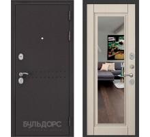 Входная дверь Бульдорс MASS 90 PP ларче бьянко с зеркалом