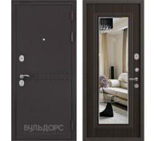 Входная дверь Бульдорс MASS 90 PP ларче шоколад с зеркалом