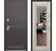 Входная дверь Бульдорс STANDART 90 D-4 ларче бьянко зеркало