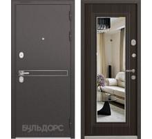 Входная дверь Бульдорс STANDART 90 D-4 ларче шоколад зеркало